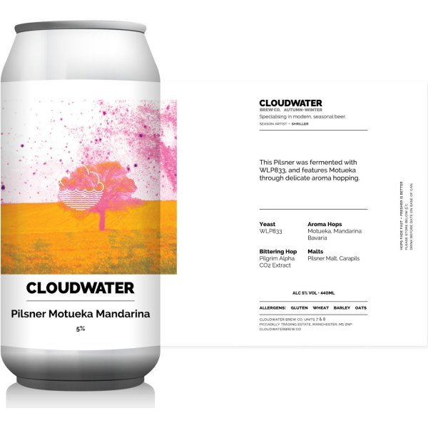 Cloudwater Pilsner mouteka co2 hop extract